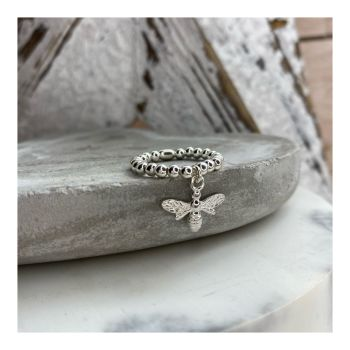 Sterling Silver Bee Ring on 3mm balls