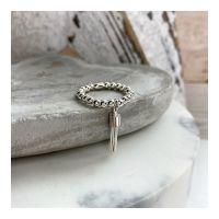 Sterling Silver Tassel Ring on 3mm Balls