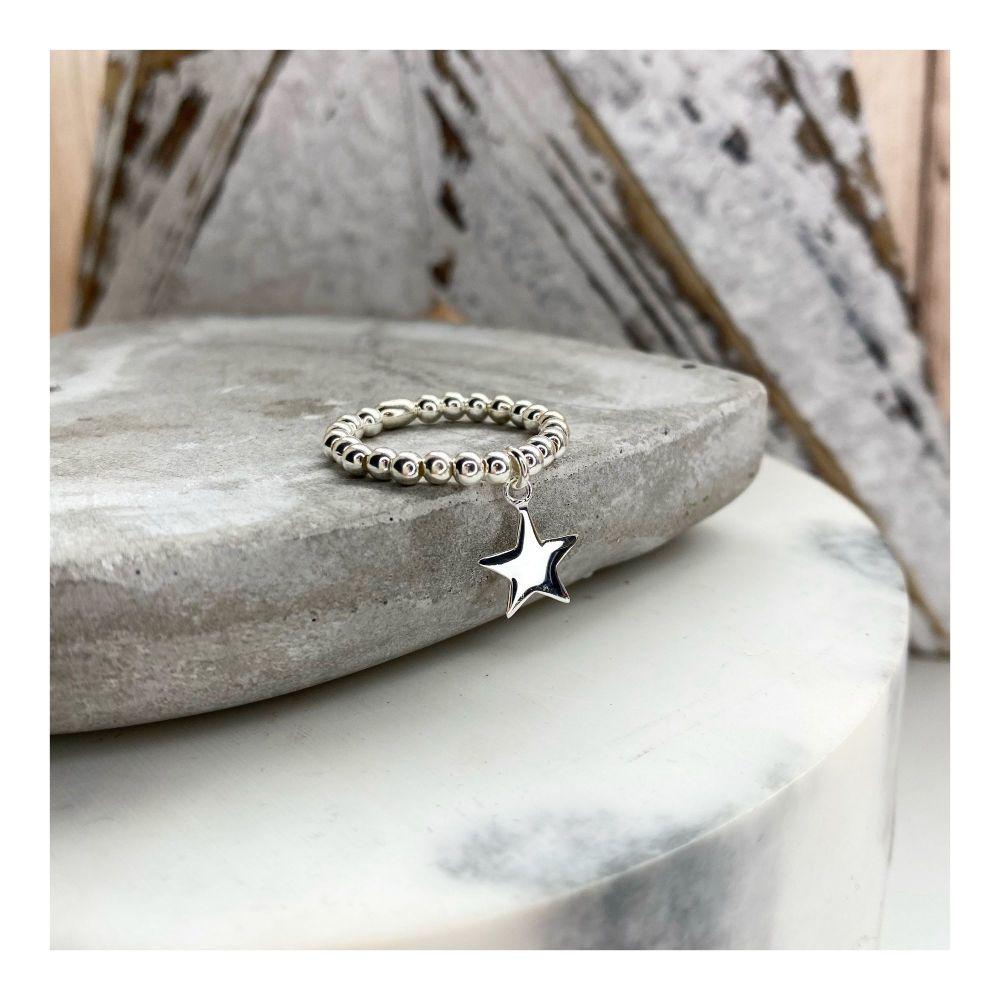 Sterling Silver Mini Star Ring