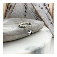 Sterling Silver Star Ring on 3mm balls