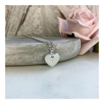 Sterling Silver Heart-burst Pendant