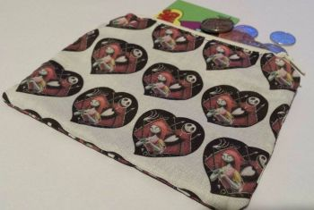 Coin Purse Made With Nightmare Before Christmas Fabric