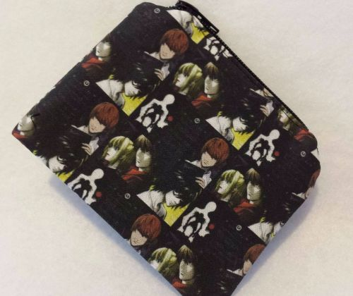 Coin Purse Made With Death Note Fabric