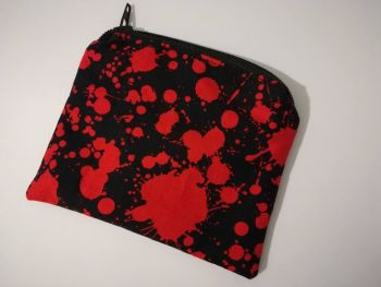 Coin Purse Made With Blood Splatter Fabric