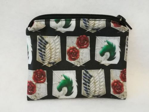 Coin Purse Made With Attack On Titan fabric