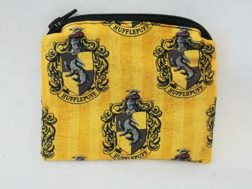 Coin Purse Made With Harry Potter, Hogwarts House Fabric - Hufflepuff