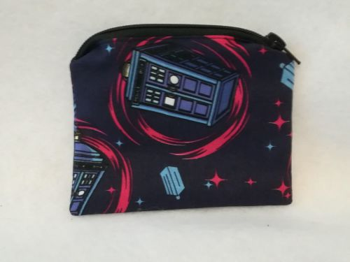 Coin Purse Made With Doctor Who Fabric - T.A.R.D.I.S