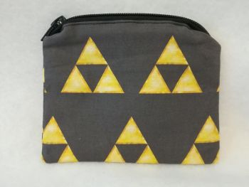 Coin Purse Made With The Legend Of Zelda Triforce Fabric