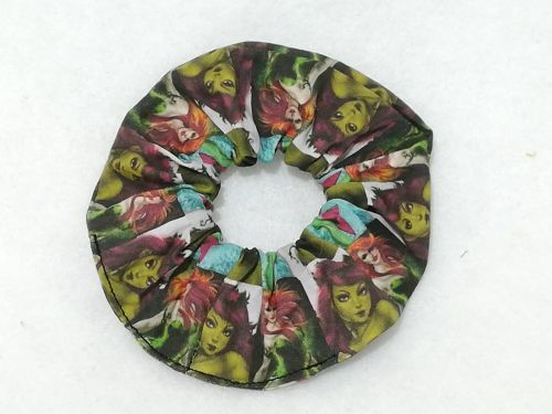 Scrunchie Made With Poison Ivy Fabric