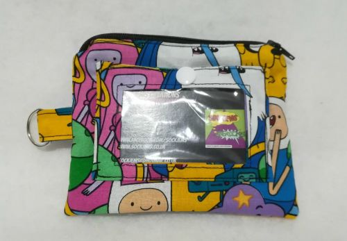 Convention Purse Made With Adventure Time Fabric