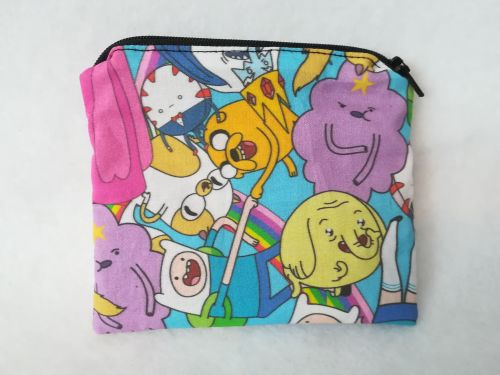 Coin Purse Made With Adventure Time Fabric