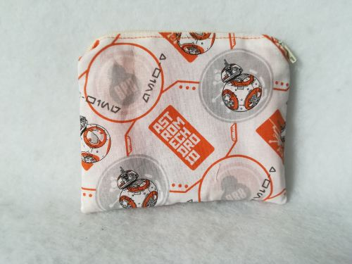 Coin Purse Made With Star Wars fabric - BB8
