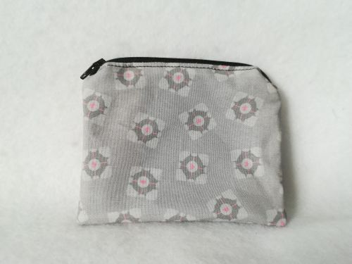 Coin Purse Made With Companion Cube Fabric