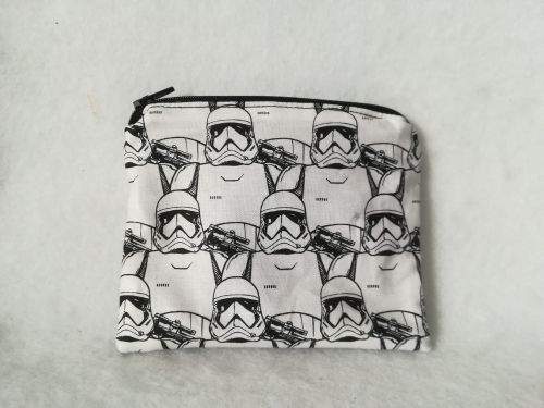 Coin Purse Made With Star Wars Fabric - Storm Troopers