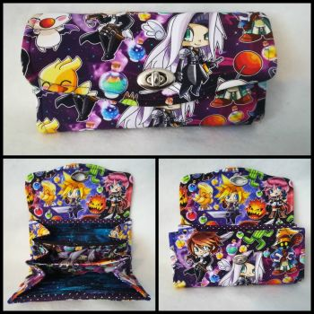 Necessary Clutch Wallet (NCW) made with Final Fantasy Fabric
