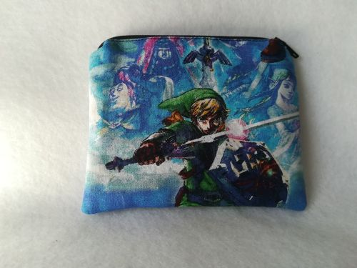 Coin Purse Made With The Legend Of Zelda Fabric - Skyward Sword