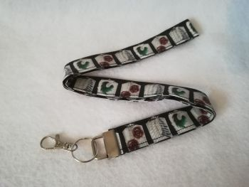 Lanyard Made with Attack On Titan Fabric