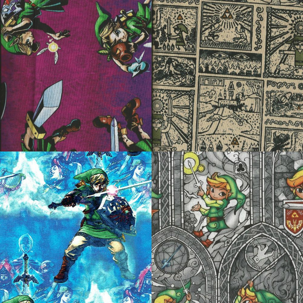 Items Made With The Legend Of Zelda Fabrics