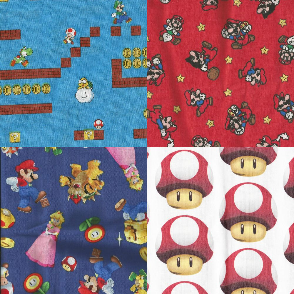 Items Made With Super Mario Fabrics