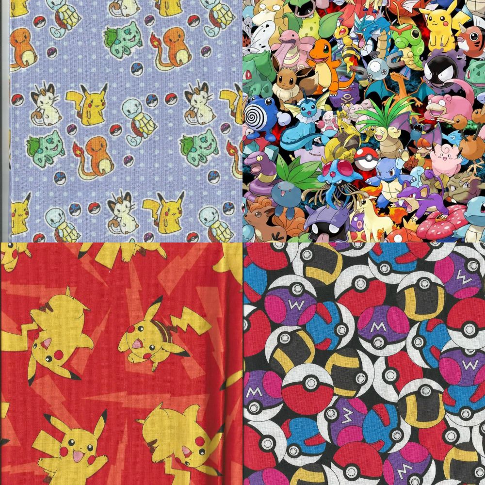 Items Made With Pokemon Fabrics