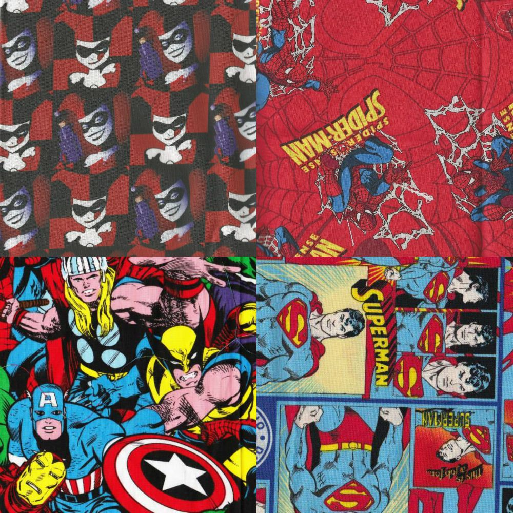 Items Made With Super Hero / Villain Fabrics
