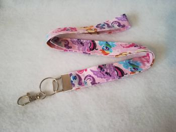 Lanyard Made With My Little Pony Fabric - Pink