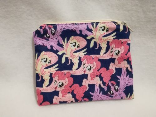 Coin Purse Made With My Little Pony Fabric - Twilight, Pinkie Pie and Flutt