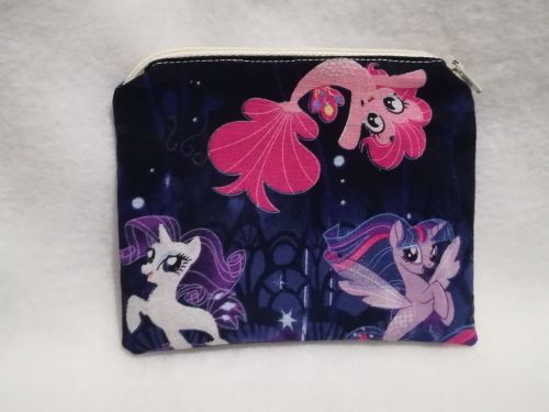 Coin Purse Made With My Little Pony Fabric - G4 Sea Ponies