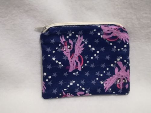 Coin Purse Made With My Little Pony Fabric - G4 Twilight Sparkle