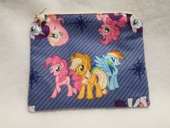 Coin Purse Made With My Little Pony Fabric - G4 Blue