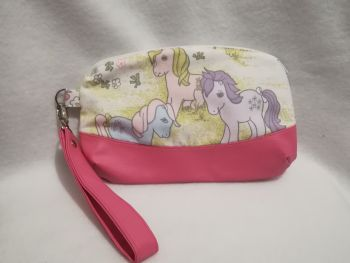 Clutch Bag Made With My Little Pony Fabric - G1 Bow Tie, Blossom and Sea Shell