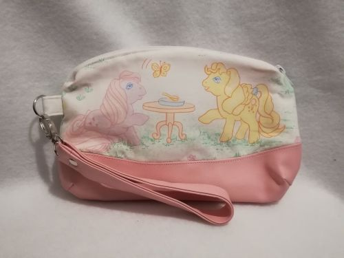 Clutch Bag Made With My Little Pony Fabric - G1 Lickity Split and Lofty