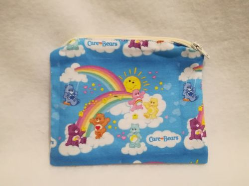 Coin Purse Made With Care Bears Fabric