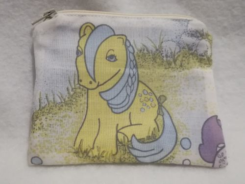 Coin Purse Made With My Little Pony Fabric - G1 Bubbles