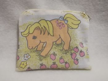 Coin Purse Made With My Little Pony Fabric - G1 Applejack