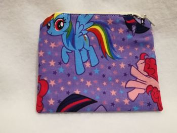 Coin Purse Made With My Little Pony Fabric - G4 Purple