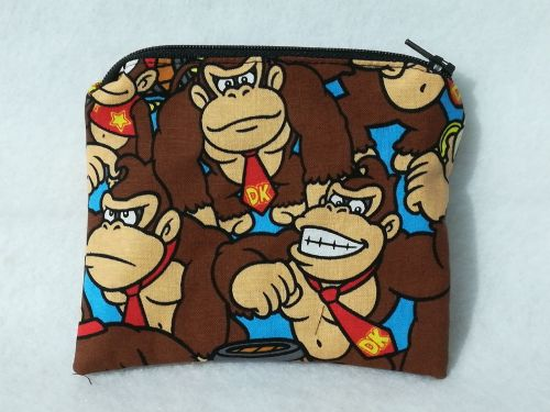 Coin Purse Made With Donkey Kong Fabric