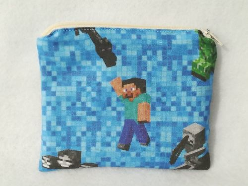 Coin Purse Made With Minecraft Fabric