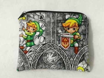Coin Purse Made With The Legend Of Zelda Fabric - Wind Waker