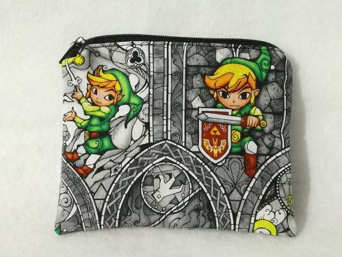 Coin Purse Made With Legend Of Zelda Fabric - Wind Waker