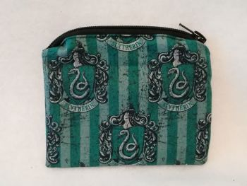 Coin Purse Made With Harry Potter House Fabric - Slytherin