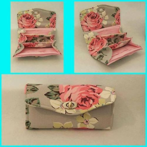 Necessary Clutch Wallet (NCW) made with Cath Kidston Richmond Rose Fabric