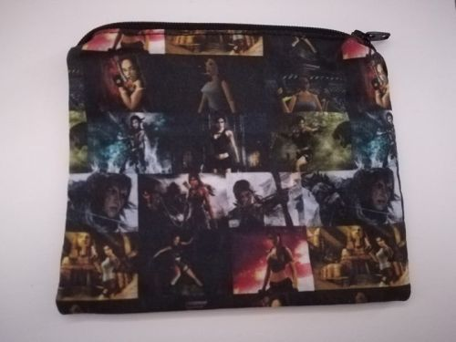 Coin Purse MAde With Tomb Raider Fabric