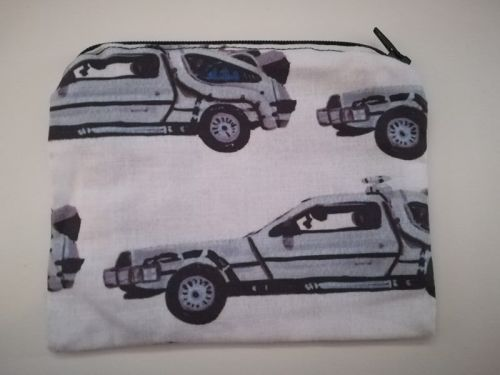 Coin Purse Made With Back To The Future Fabric -  Delorean