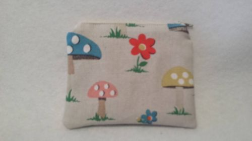 Coin Purse Made With Cath Kidston Mushrooms Fabric