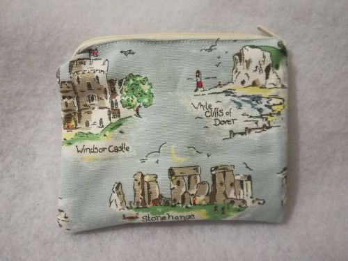 Coin purse made with Cath Kidston Land marks fabric