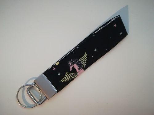 Key Fob Made With Black Unicorn Fabric