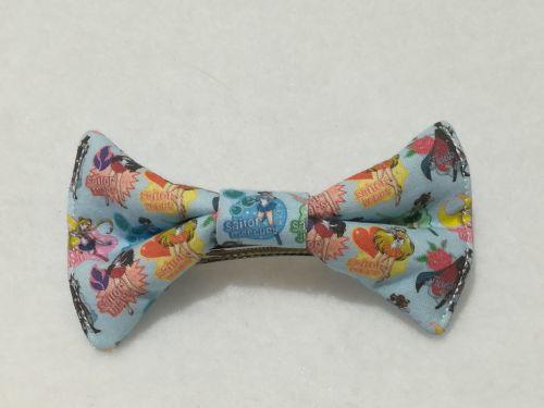 Hair Bow Made With Sailor Moon Fabric