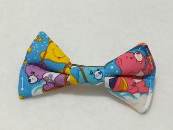 Hair Bow Made With Care Bear Fabric