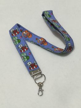 Lanyard Made with Pokemon Fabric
